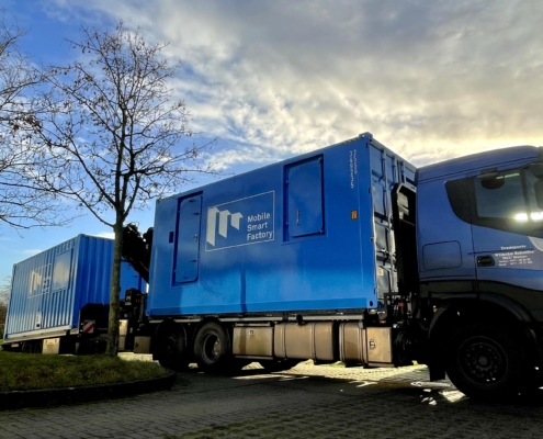 Container delivery Mobile Smart Factory
